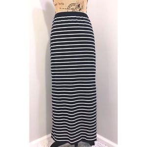 NWT Navy & White Striped Maxi Skirt